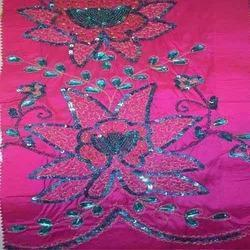 Stylish Embroidered Silk Dupioni Fabric in  Sudhama Nagar