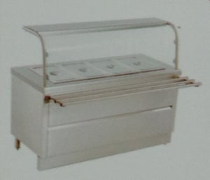 Hot Bain Marie With Sneez Guard
