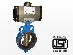 Butterfly Valve With Pneumatic Actuator Wafer
