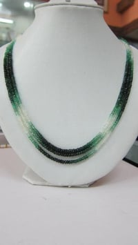 Emerald Faceted Beads Shaded