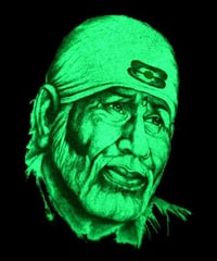 Sai Baba Glow In Dark Paints Photo Frame
