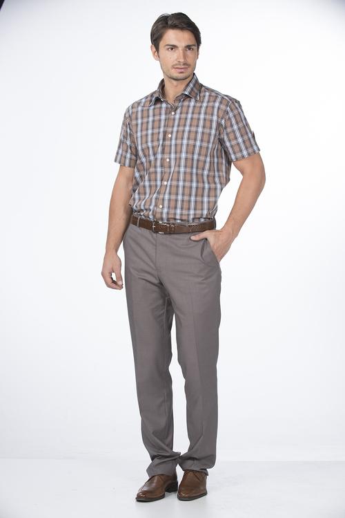 Check Design Mens Half Shirt
