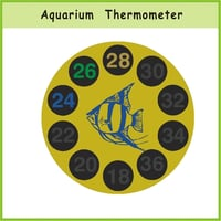 Liquid Crystal Fish Aquarium Thermometer