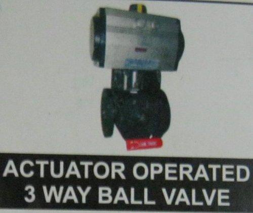 Actuator Operated 3 Way Ball Valve