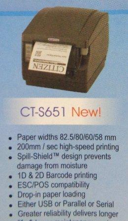 Thermal POS Printer (CT S651 New)