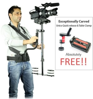 Flyfilms 5000 Body Support Unico Quick Release Plate Table Clamp Steadycam