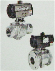 CW Series 3 Way Ball Valve With Pneumatic Rotary Actuator in  Perungudi