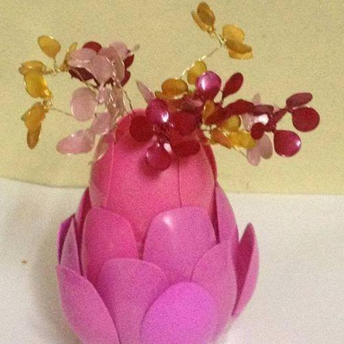 Recycled Plastic Spoon Vase Lifestyle Solutions No89 Andheri
