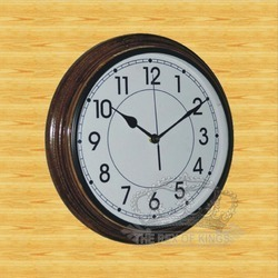 Round Dial Wooden Wall Clock