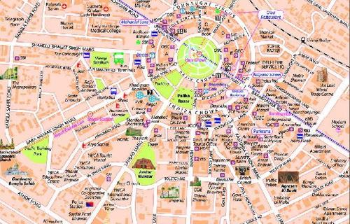 Connaught Place Map Connaught Place Map   Inox Spatial Data & Services, A 15, Bhagwati  Connaught Place Map