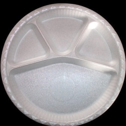 "12"" Round 4 Compartment Disposable Plate"