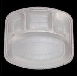 Rect. 4 Compartment Disposable Plate