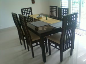 Rose Wood And Teak Wood Dining Table With Chair
