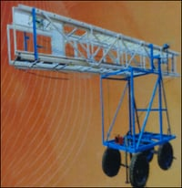 Aluminium Tiltable Tower Extension Ladder With Jeep Tyre