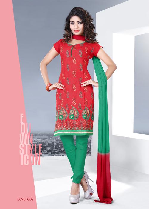 Attractive Chanderi Salwar Suit