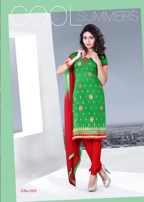 Attractive Look Chanderi Salwar Suit
