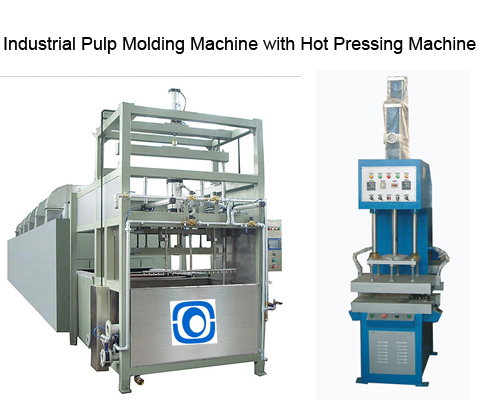 Industrial Pulp Molding Machine With Hot Pressing Machine
