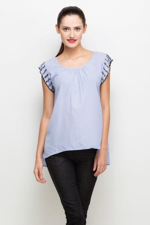 Top With Embroidered Sleeve