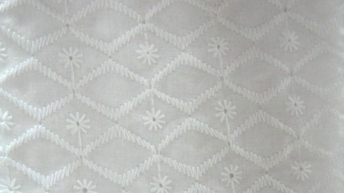 White Coloured Fancy Fabric
