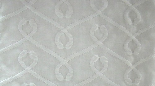 White Embroidery Cotton Fabric