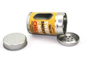 Round Metal Box Spice Shaker Tin With Holes