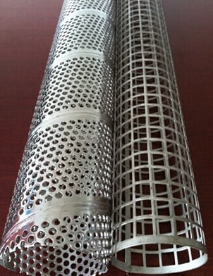 Square Hole Spiral Welded Protective Perforated Tubes