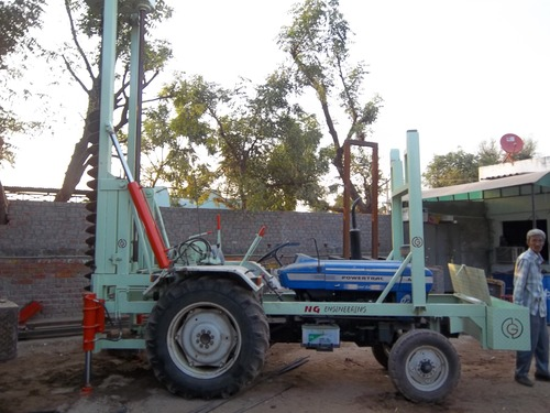 Tractor Mounted Dry Piling Machine in Mehsana, Gujarat - NG ENGINEERING
