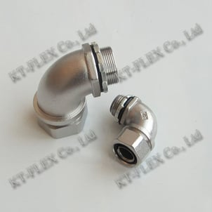 90 Degree Stainless Steel Flexible Conduit Fitting