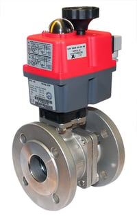 Flanged Ball Valve 1.4408, PN 16/40 DIN, with JJ Electric Actuator