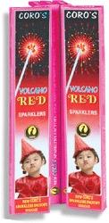 10 Cm Volcano Red Sparklers (CS 021)