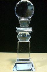 Crystal Ball Plate Pillar Trophy