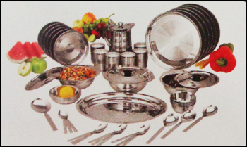 Stainless Steel Dinner Set in  8-Sector