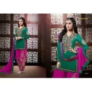Attractive Georgette Semi-Stitched Patiala Suits