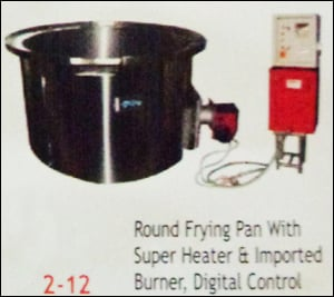 Round Frying Pan With Super Heater
