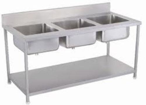 Three Compartment Wash Sink