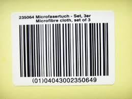 Bar Coded Numbering Sticker