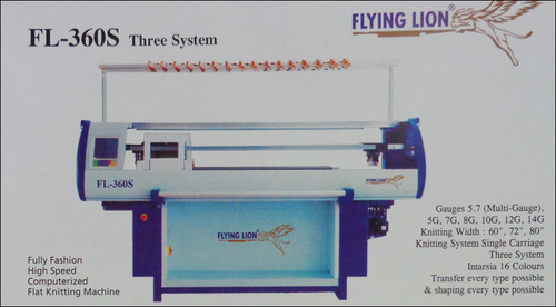 Three System Knitting Machine (FL-360S) in  Sunder Nagar