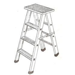 Aluminum Ladder Platform Stool