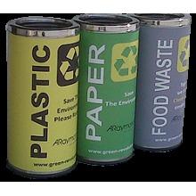 Colored Ss Garbage Bin 61l