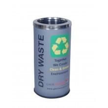 Colored Steel Dustbin 71l
