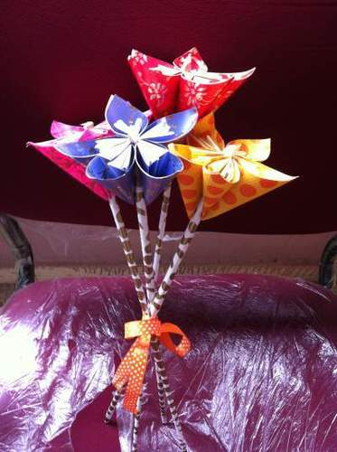 Origami Kusudama Handmade Eco-Friendly Durable Paper Flower Bunches