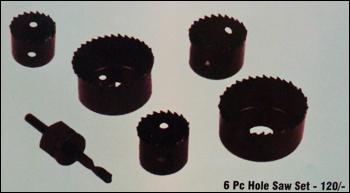 6 Pc Hole Saw Set