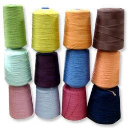 Aw White/Dyed Spun 100% Polyester Yarn