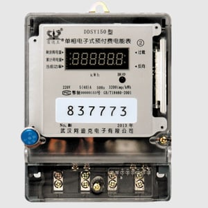 Single Phase Electric Prepayment Meter with IC/RF Card