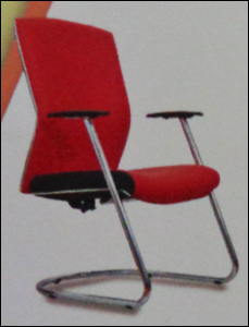 Fixed Red Color Office Chair