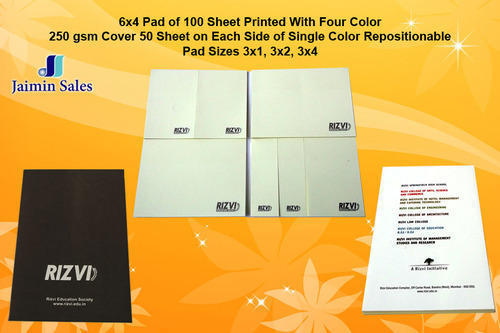 Printed Sheet Repositioning Notepad