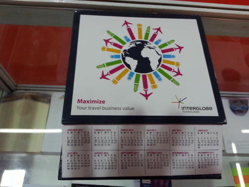 Table Top Notepad With Calendar