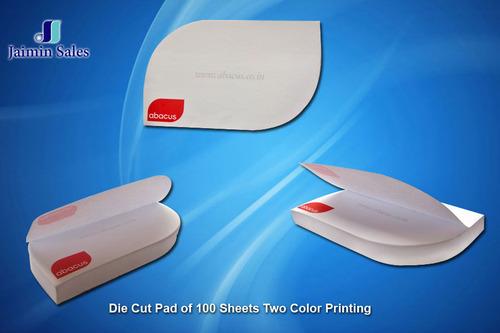 Two Color Printing Die Cut Pad