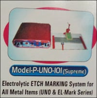Electrolytic Etch Marking Machine for all Metals (P-UNO-IOI)