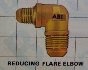Brass Reducing Flare Elbow For Tube Fitting